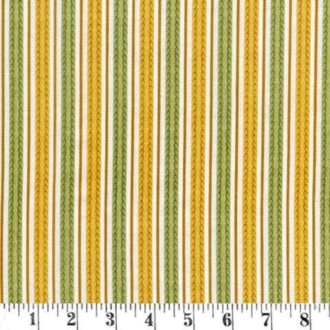 Z785 Feline Fine - Gold/Green Stripes