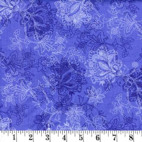 Z843 Brittany - Dark Blue Bouquet