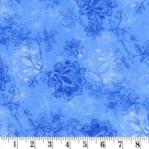 Z845 Brittany - Blue Bouquet