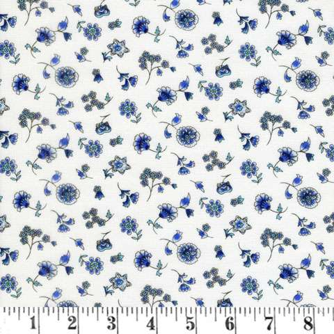 Z846 Brittany - White Blue Belles