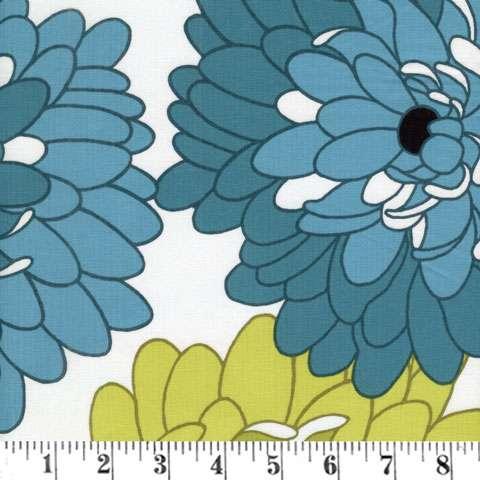 Z857 Fresh Bloom - Teal/Green