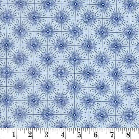 Z927 Gentle Breeze - Blue Tufted Geo