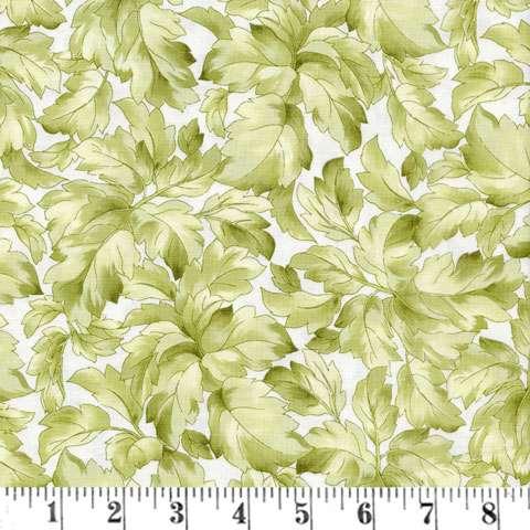 Z932 Gentle Breeze - Cream Lush Leaves