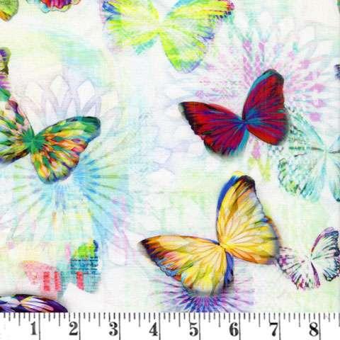 Z952 Digital Butterflies - Opal