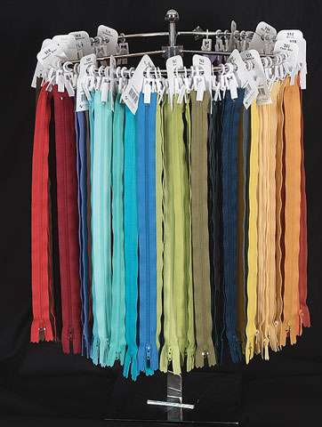 Zips (14in long, assorted colours)